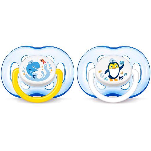 Chupetas-Freeflow-Dupla--18-Meses-Philips-Avent---Scf186-24---Azul