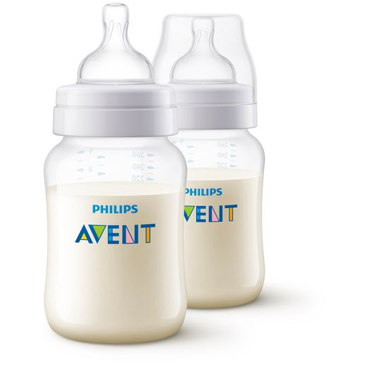 Kit-2-Mamadeiras-260ml-Philips-Avent---SCF813-27---Transparente