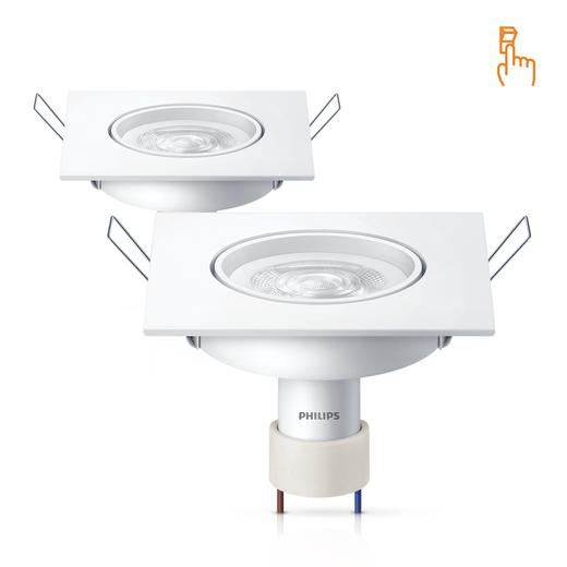 2-Luminarias-LED-SpotKit-SceneSwitch-GU10-Quadrado-5W-2700K