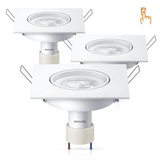 3-Luminarias-LED-SpotKit-SceneSwitch-GU10-Quadrado-5W-6500K
