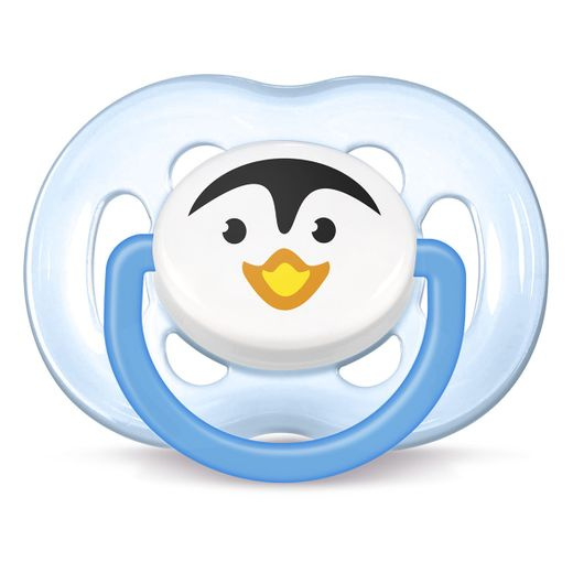 Chupeta-Freeflow-Pinguim-6-a-18-meses-Philips-Avent---SCF183-14---Azul