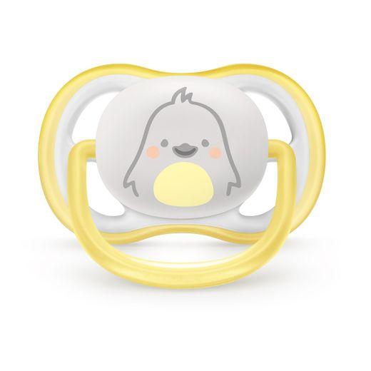 Chupeta-Ultra-Air-Pinguim-Philips-Avent-–-Amarelo-e-Branco